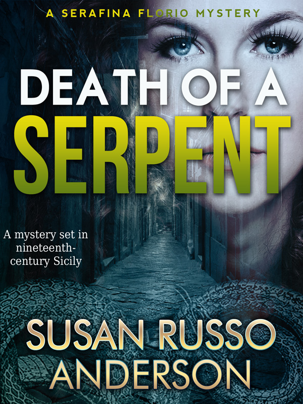 Mystery Book Cover Design ~ Death of a serpent historical mystery book cover design