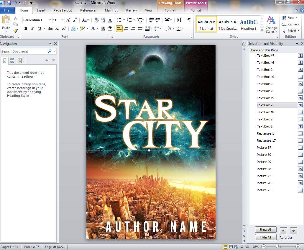 How To Design Your Own Book Covers In Ms Word Creativindie Book Cover Design